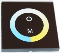 Glass Touch PANEL Dimmer 2 channels for color temperature 12-24V 4A TM07