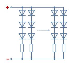Схема светодиодных лент