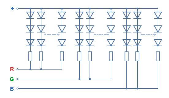 Схема светодиодных лент 2